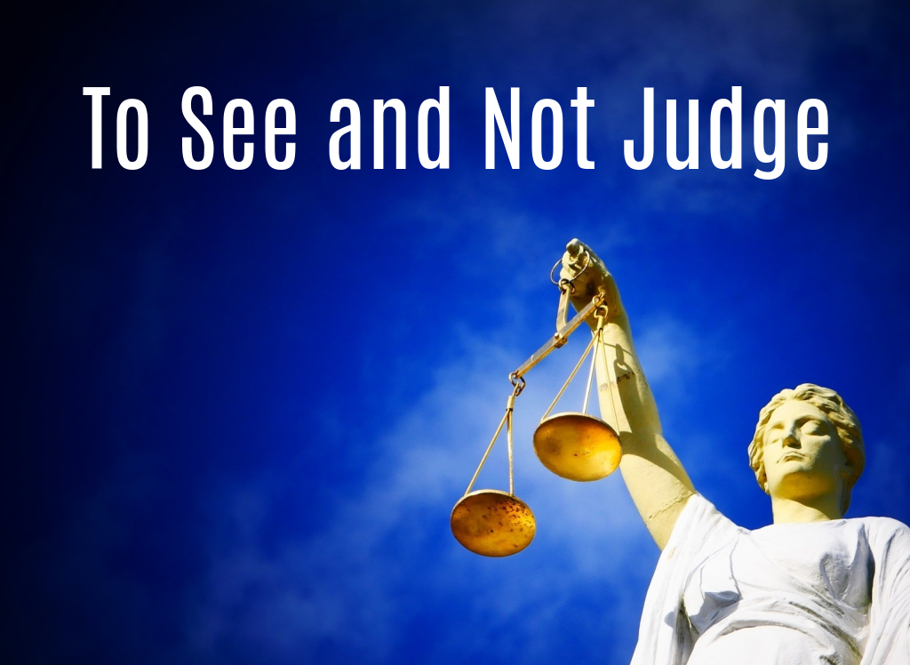 To See and Not Judge