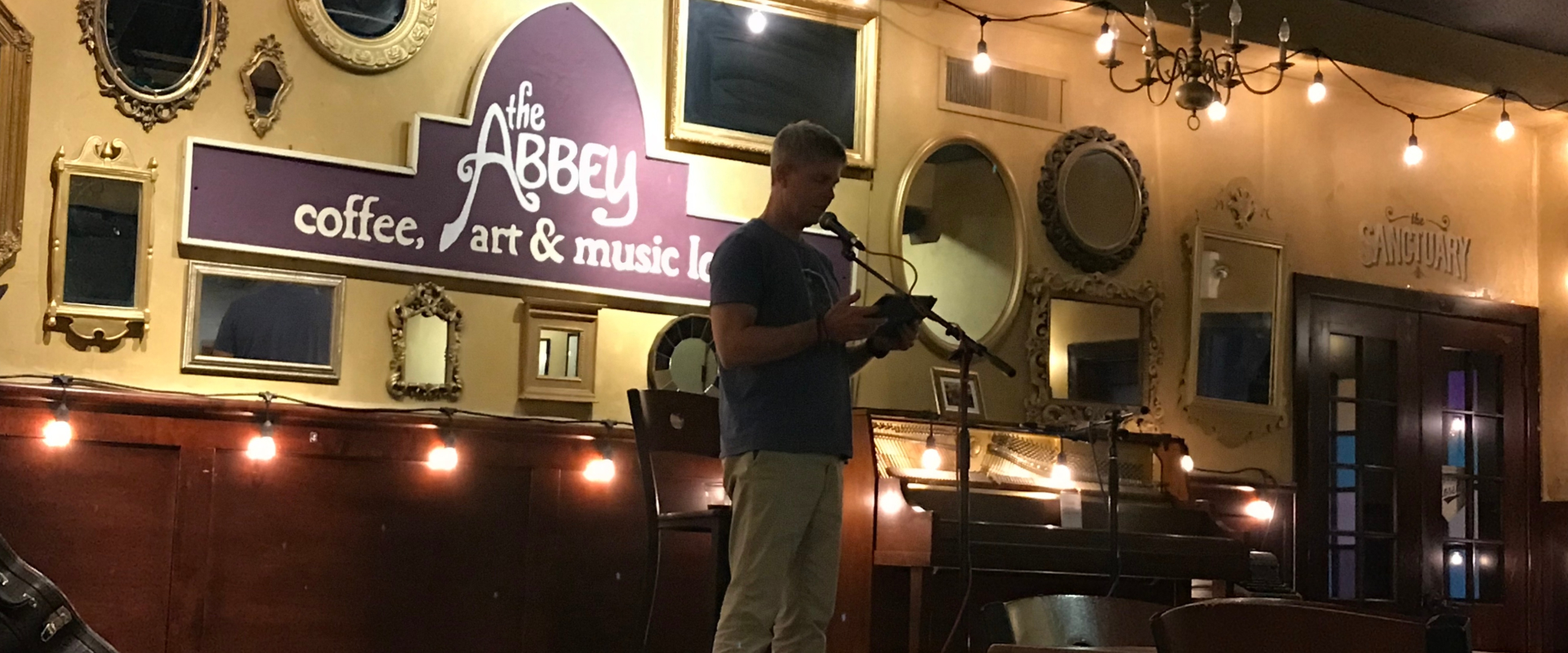 Peter at Open Mic Night